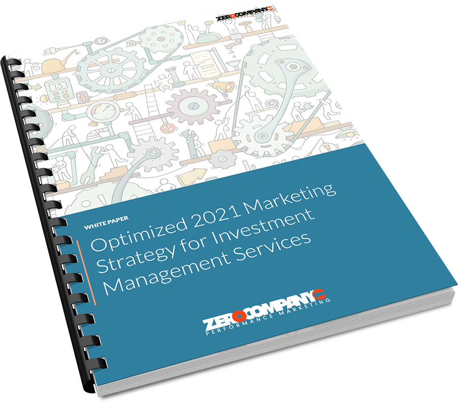 optmized 2021 marketing strategy for investment management cover