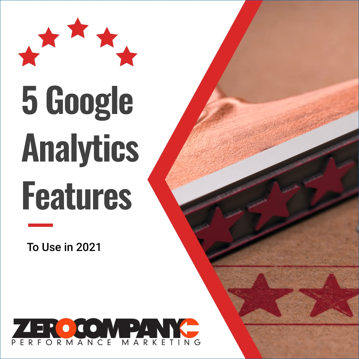 featured image for article on google analytics with red stars.